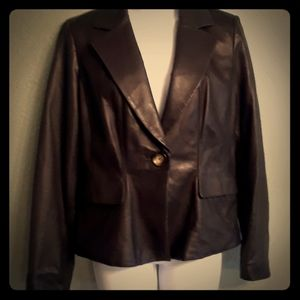 Micheal Kors leather jacket. Black. Excellent cond